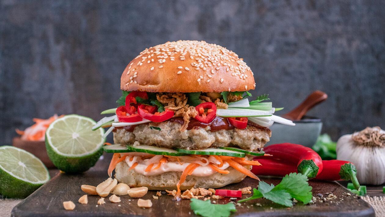 Rezept Banh Mi Burger mit schweinefleisch und Hoisin-Ketchup