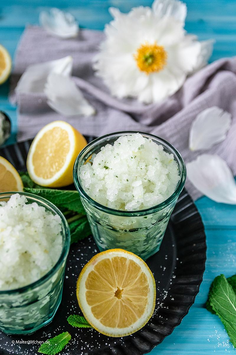 Zitronig lecker die Granita