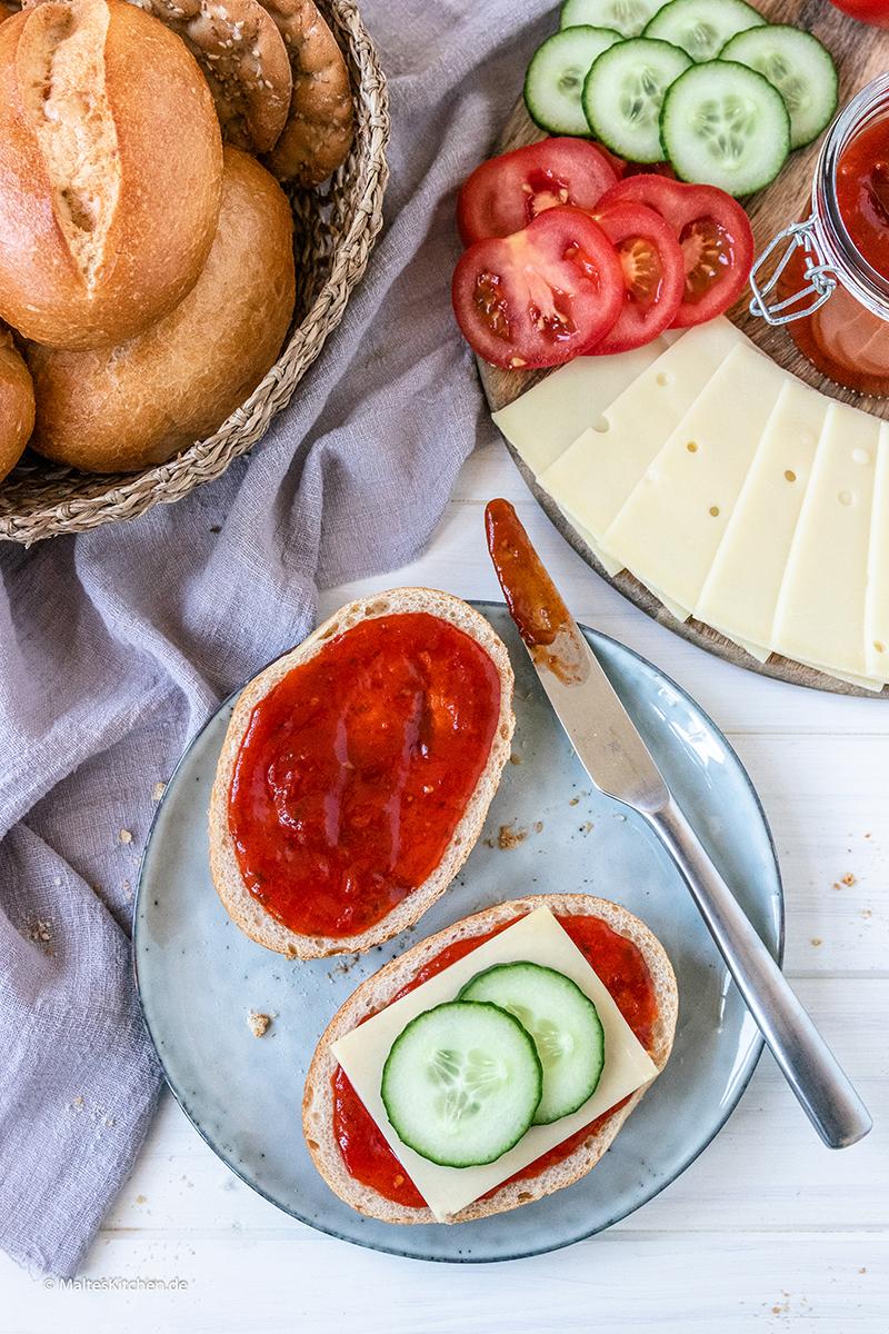 Selbstgemachte Tomatenmarmelade