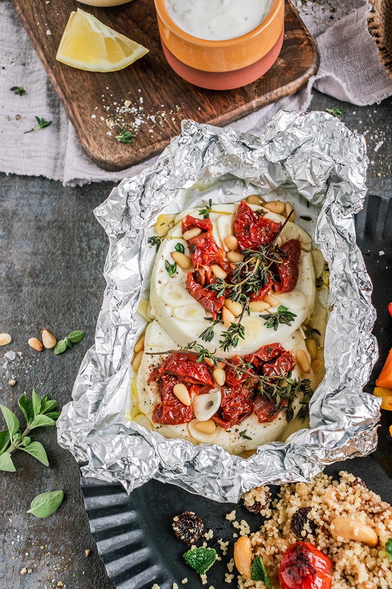 Feta mit getrockneten Tomaten vom SEVO GTS Elektrogrill