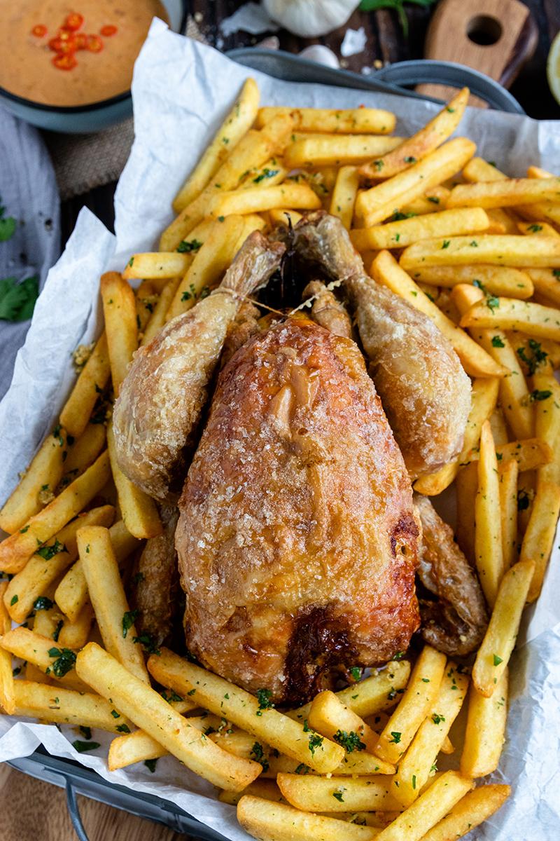 Hähnchen - saftig und knusprig aus dem Airfryer