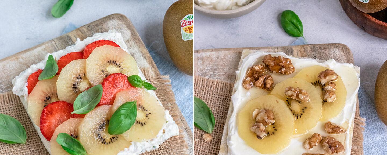 Rezept für leckere Sandwiches mit Kiwi