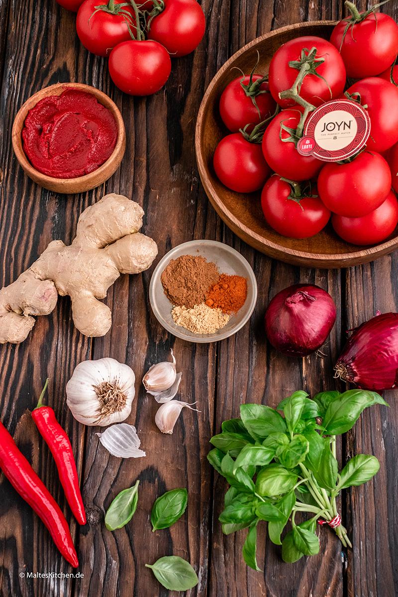 Zutaten für die Tomatenmarmelade