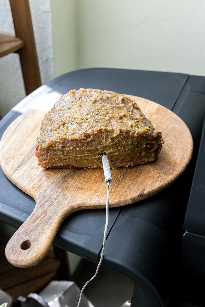 Fleisch immer mit Kernthermometer garen.
