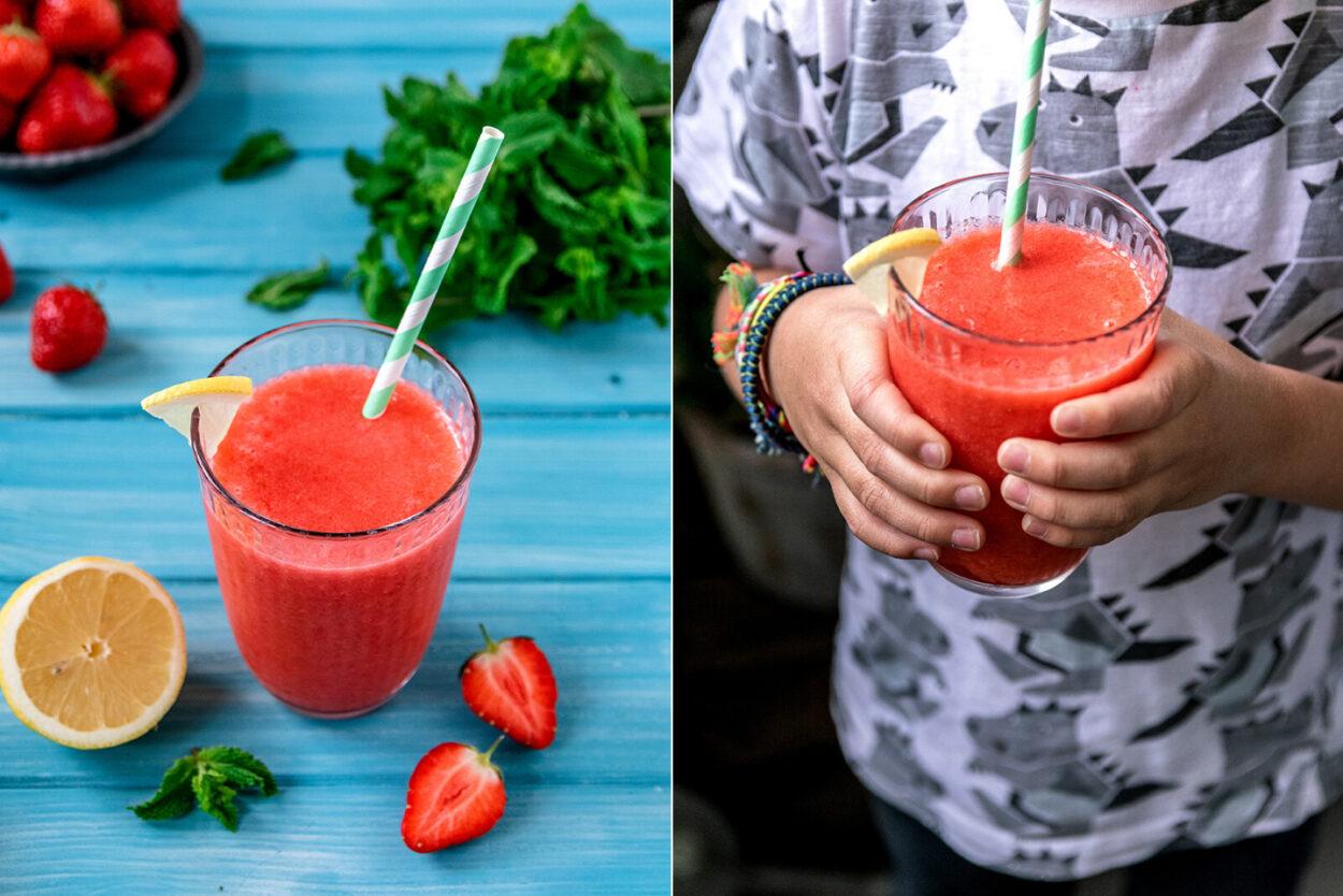 Rezept für einen Strawberry Frozen Smoothie