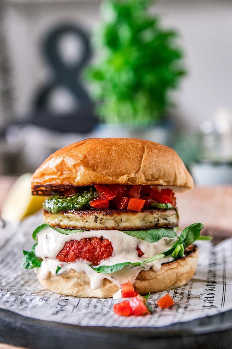 Ein richtig leckerer Burger auch ohne Fleisch.