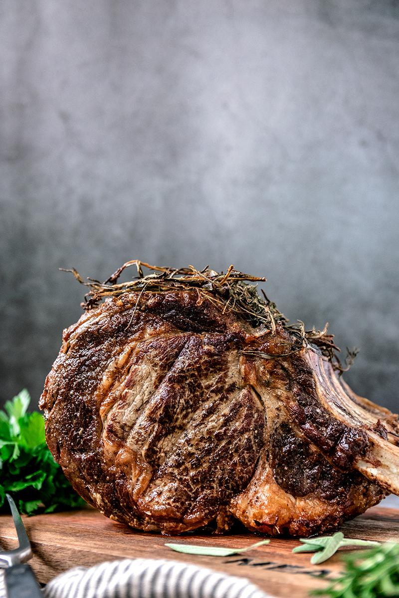 Ein fantastisches Stück Fleisch - die Hochrippe vom Rind.
