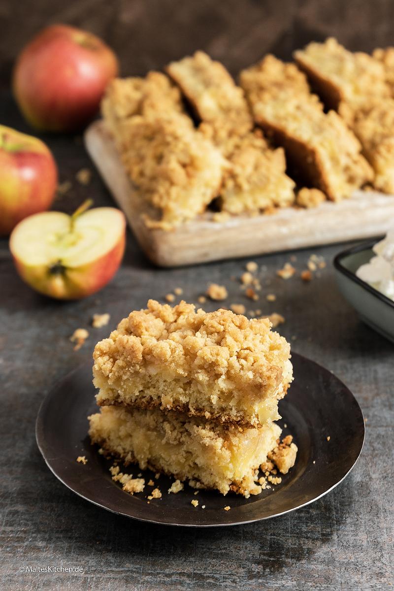 Super leckerer Apfelkuchen mit reichlich Streuseln.