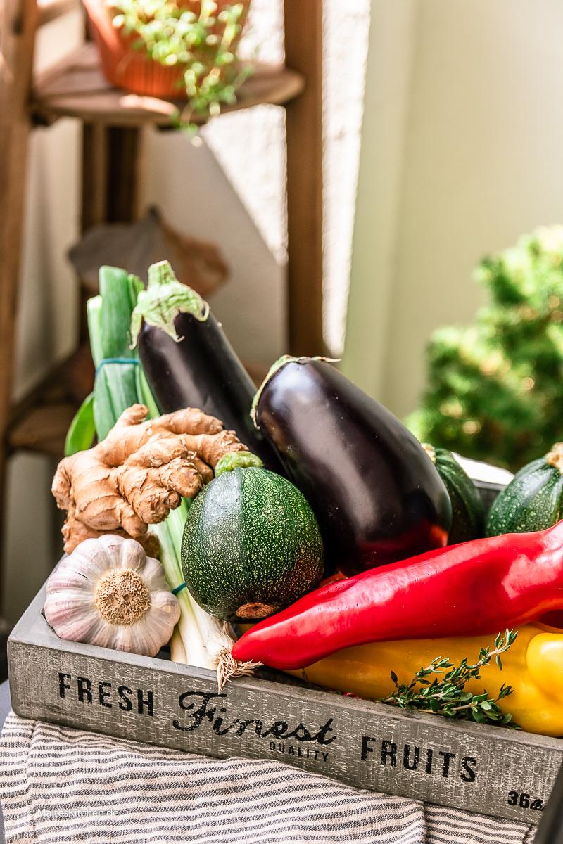Das Gemüse für mein Ratatouille.