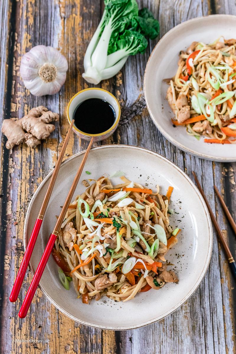 Super lecker und schnell zubereitet- Chicken Chow Mein.