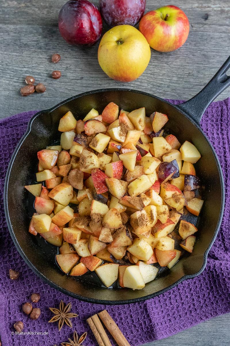 Pflaumen und Äpfel für meinen Crumble