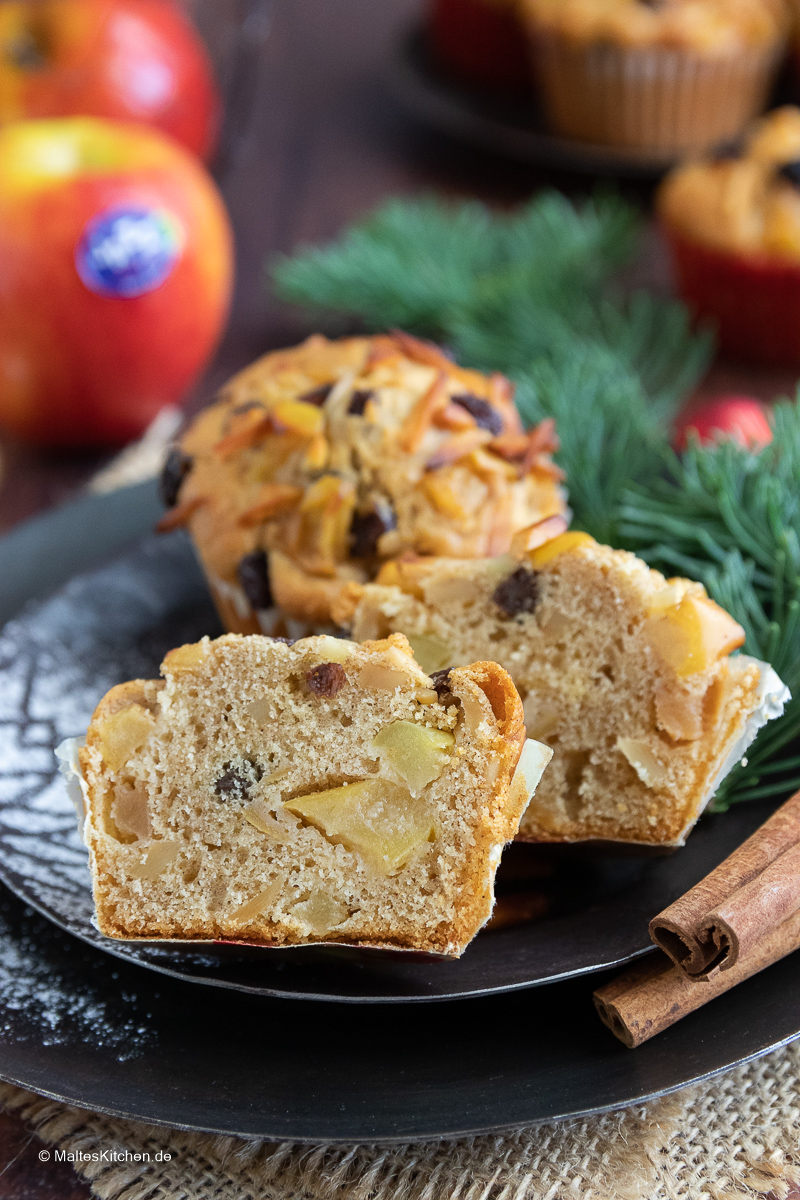 Super leckere Muffins als Bratapfelmuffins.