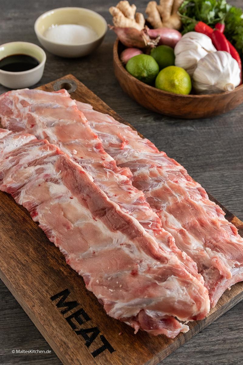 Loin-Ribs vom Duroc-Schwein