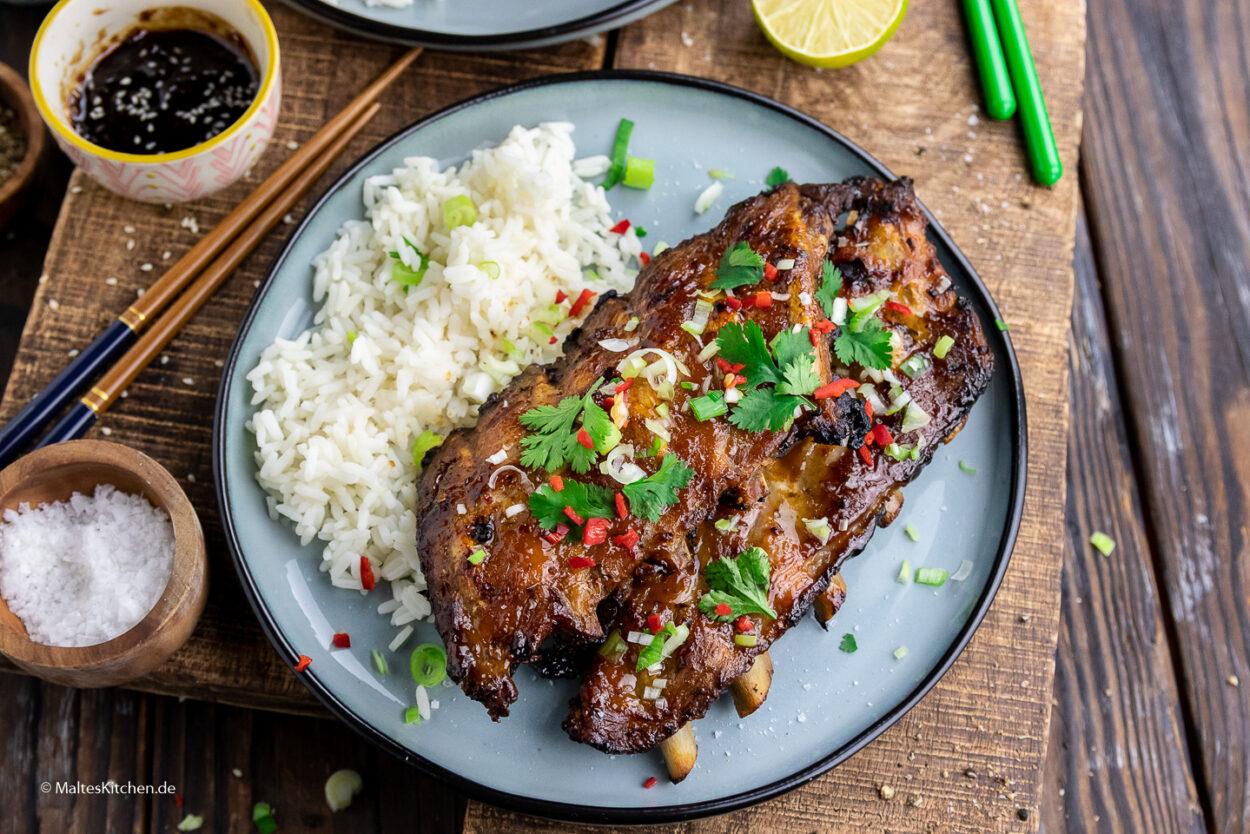 Rezept vietnamessiche Spaerribs vom Grill