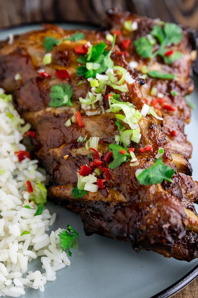 Unbedingt nachgrillen - die leckeren vietnamesischen Spareribs vom Grill.