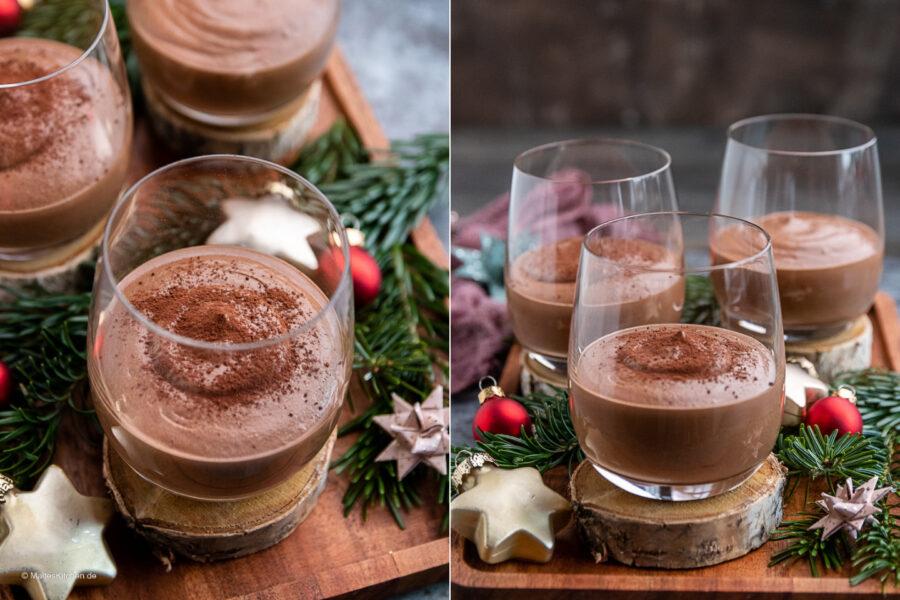 Rezept schnelle Schokoladenmousse.