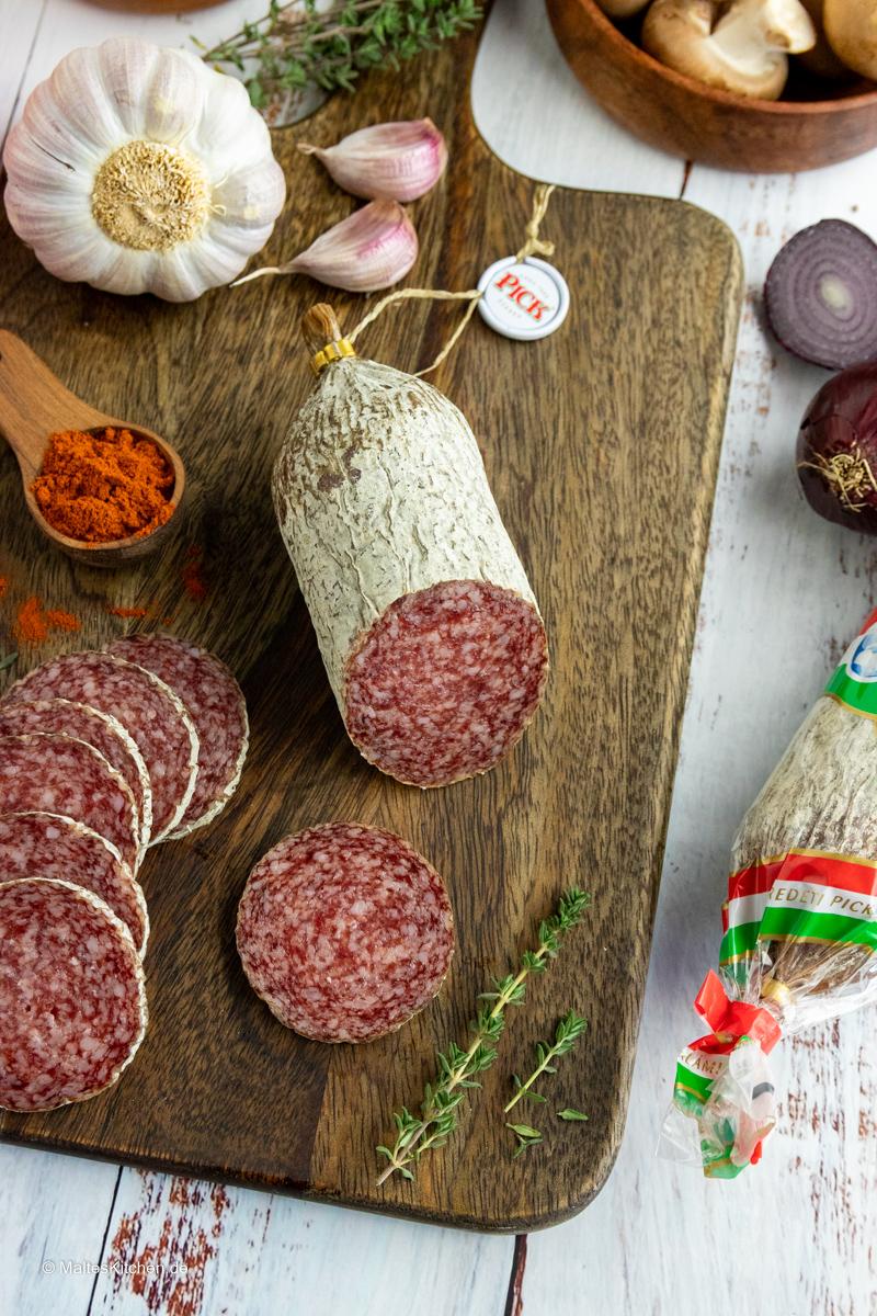 Leckere ungarische Salami von PICK.