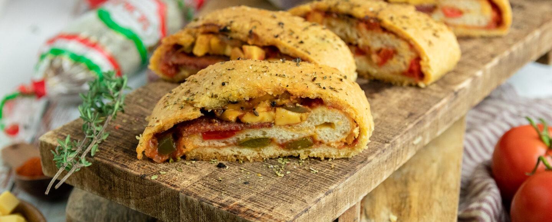 Rezept Stromboli mit PICK Salami, Paprika-Tomaten-Sauce und Käse