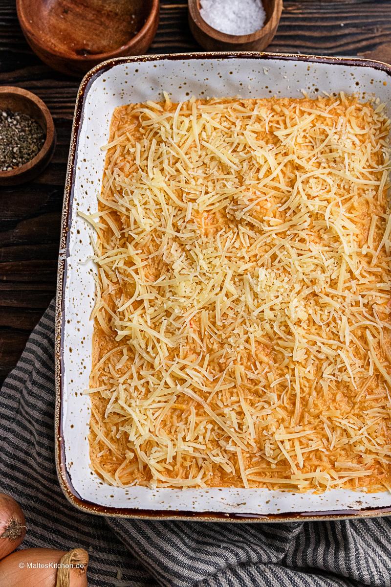 Gnocchiauflauf mit Käse.