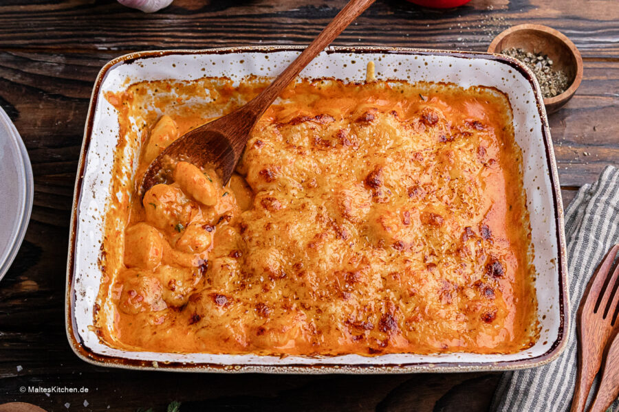 Rezept Gnocchi-Auflaug mit Paprikasauce