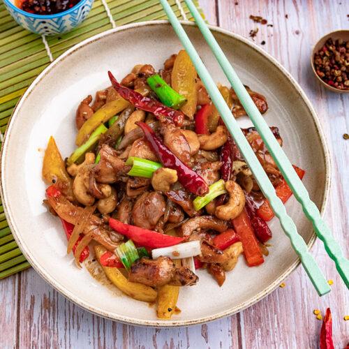 Rezept pikantes Hähnchen nach Szechuan Art