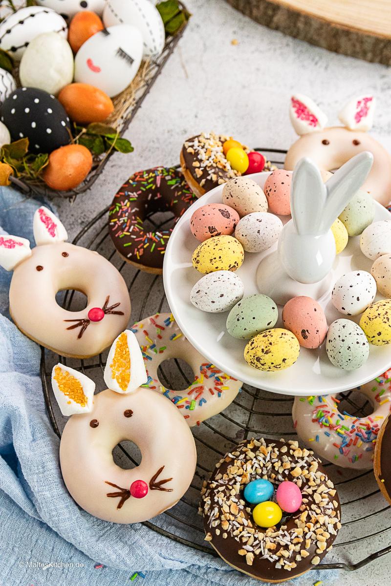 Super tolle Donuts zu Ostern aus dem Aitfryer XXL.