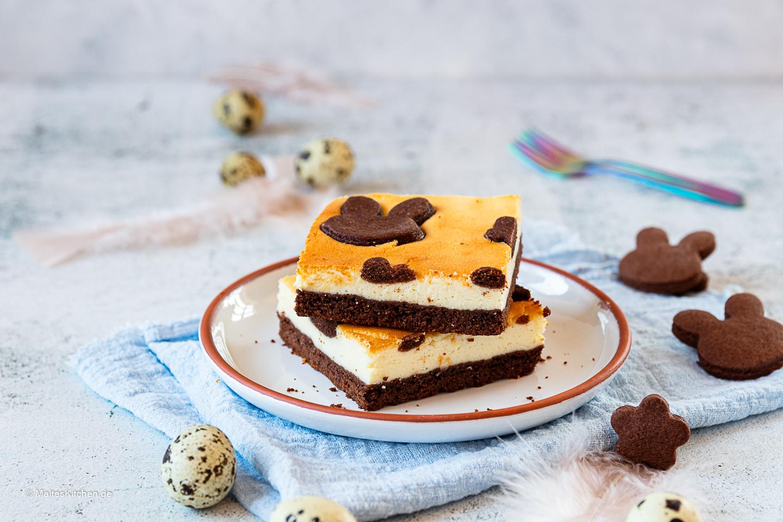 Leckerer Käsekuchen mit Schokolade.