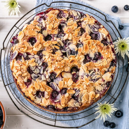Rezept Blaubeer Butterkuchen mit Zuckerkruste