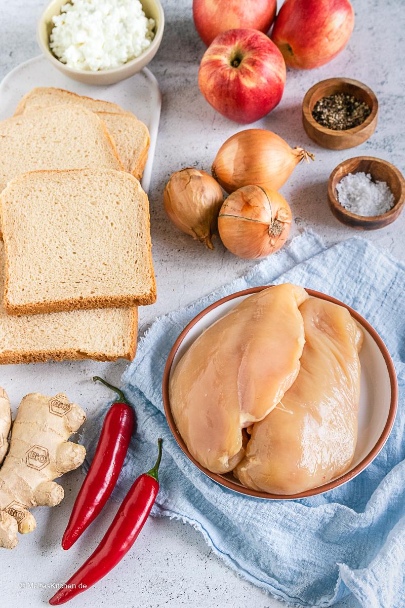Zutaten für das Sandwich von Tim Mälzer.