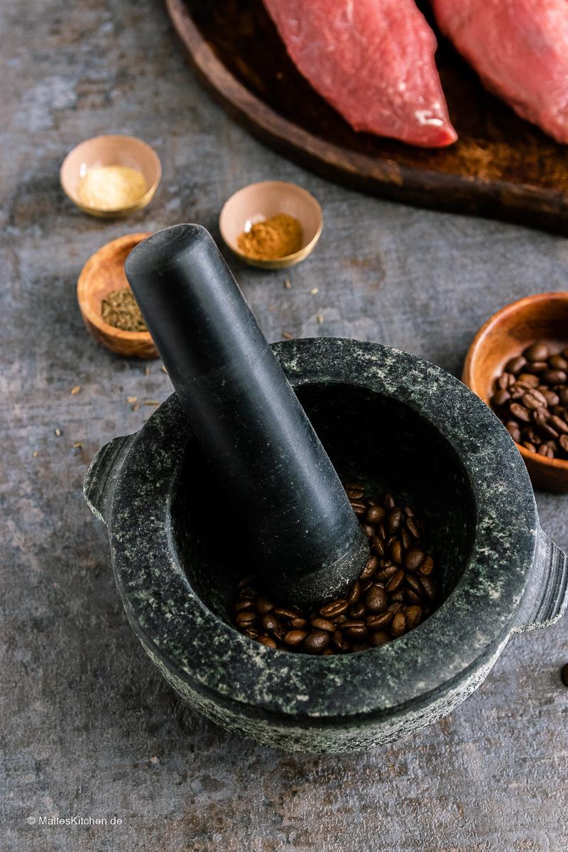 Kaffeebohnen für meinen Kaffee-Rub.