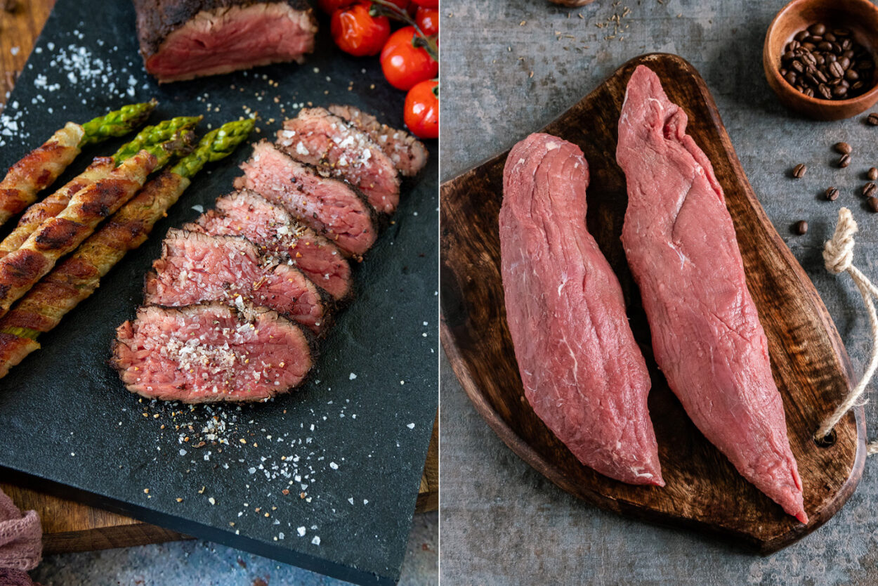 Rezept Teres Major Steak mit Kaffeekruste, Spargel und gegrillten Tomaten