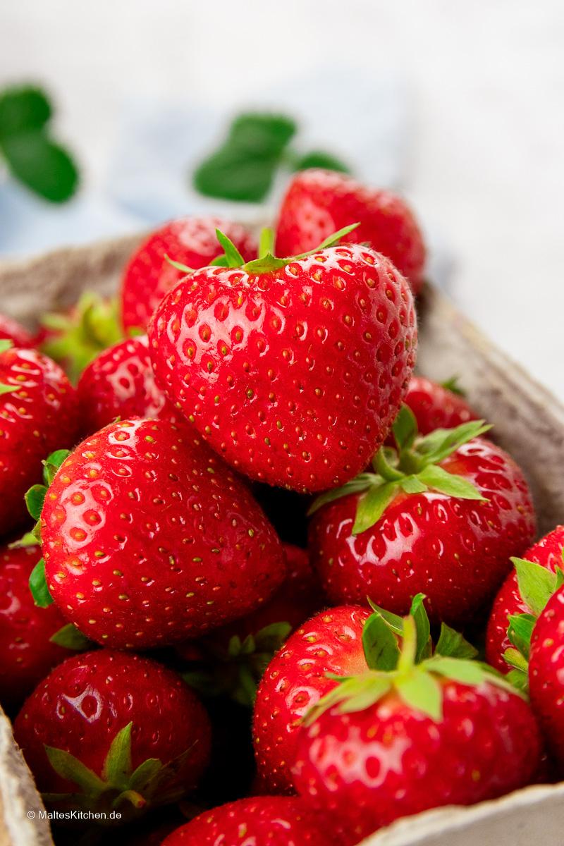 Leckere Erdbeeren.