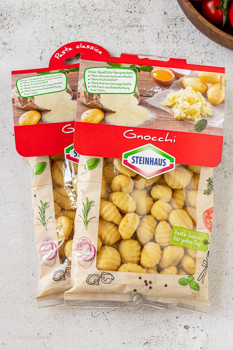 Leckere Gnocchi von Steinhaus.