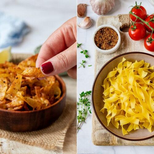 Rezept Baked Pasta Chips
