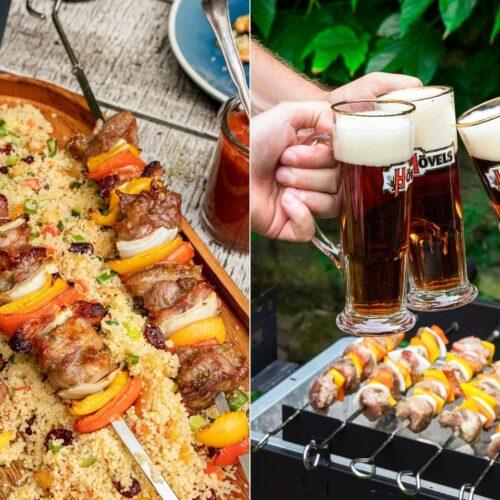 Rezept Schweinenackenspieße vom Grill mit Bier-BBQ-Sauce