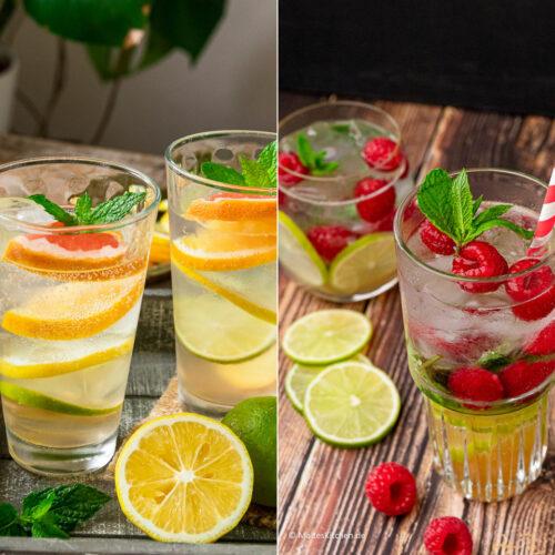 2 erfrischende Cocktails aus Leitungswasser