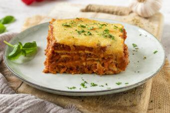 Rezept hausgemachte Lasagne mit Linsenbolognese