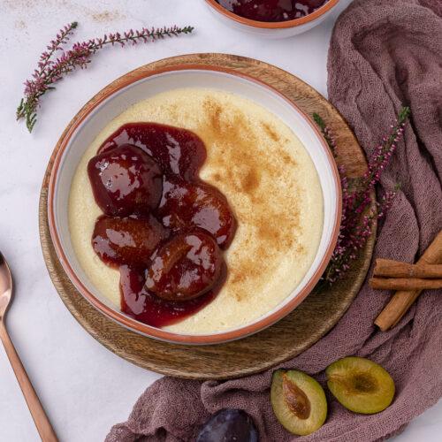 Rezept für Grießbrei mit Zwetschgenkompott